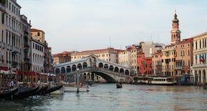 Panorama of Rialto bridge, Venice Royalty Free Stock Photos