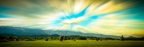 Panorama Rice gospodarstwo rolne Obraz Stock