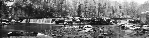 Panorama of Richmond waterfalls in North Yorkshire Royalty Free Stock Photography