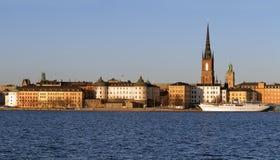 Panorama, Riddarholmen in Stockholm. Stock Image