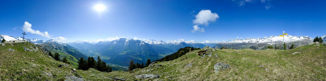 Panorama from Riederhorn Royalty Free Stock Photography