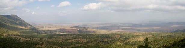Panorama of the Rift Valley Royalty Free Stock Images