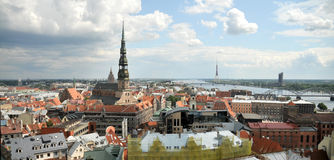 Panorama of Riga Royalty Free Stock Photo