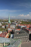 The Panorama of Riga. Panorama of Riga - Dome square, Reval Latvia hotel building Stock Image