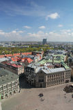 Panorama of Riga. Dome square, Reval Latvia hotel building Royalty Free Stock Images