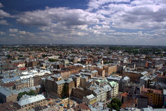 Panorama of Riga. A look at the charming Riga in advance Stock Images