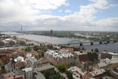 Panorama on Riga, Capital of Latvia Royalty Free Stock Image