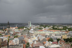 Panorama on Riga, Capital of Latvia Stock Images