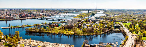 Panorama of Riga city Royalty Free Stock Image