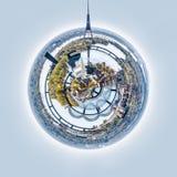 Panorama of Riga city, Latvia. Little planet 360 degree sphere. Panorama of Riga city, Latvia Stock Photos