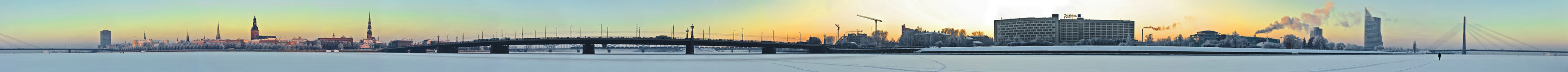 Panorama of Riga city Royalty Free Stock Photos