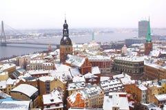 Panorama of Riga downtown Royalty Free Stock Photos