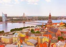 Panorama Riga, Latvia Zdjęcie Stock