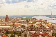 Panorama Riga, Latvia Obraz Stock