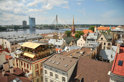Panorama of Riga, Latvia Stock Photography