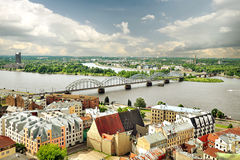 Panorama of Riga, Latvia Stock Images