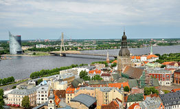 Panorama of Riga, Latvia in summer Stock Photography