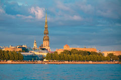 Panorama of Riga old city, Latvia Stock Photos