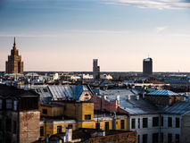 Panorama of Riga from one the buildings Stock Photos