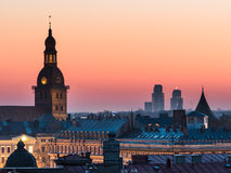 Panorama of Riga from one the buildings Stock Photography
