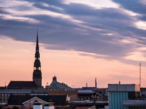 Panorama of Riga from one the buildings Stock Images