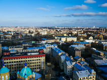 Panorama of Riga from one the buildings Royalty Free Stock Images
