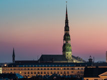 Panorama of Riga from one the buildings Royalty Free Stock Photo