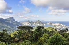 Panorama in Rio de Janeiro, Brazil Stock Image