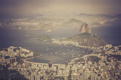 Panorama of Rio de Janeiro Stock Photography