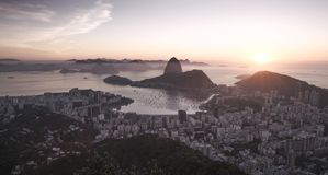 Panorama of Rio de Janeiro and Sugarloaf mountain, Brazil. Panorama of Rio de Janeiro city and Sugarloaf mountain, Brazil Royalty Free Stock Photo
