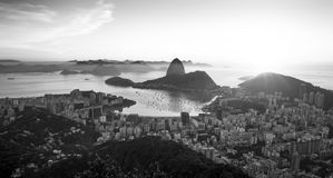 Panorama of Rio de Janeiro and Sugarloaf mountain, Brazil. Panorama of Rio de Janeiro city and Sugarloaf mountain, Brazil Stock Photo