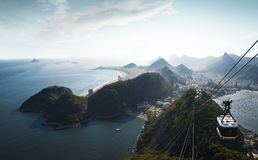Panorama of Rio de Janeiro from Sugarloaf mountain, Brazil. Panorama of Rio de Janeiro city from Sugarloaf mountain, Brazil Stock Photos
