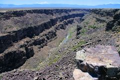 Rio Grande Gorge at Taos, New Mexico royalty free stock photos