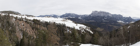 Panorama of Ritten/Renon Royalty Free Stock Photo