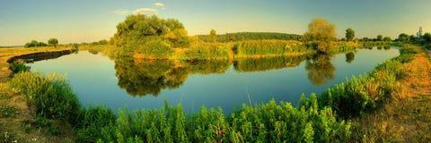 Panorama river royalty free stock photos