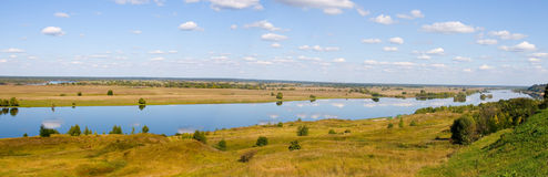 Panorama of the river Royalty Free Stock Photo