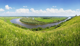 Panorama of the river Stock Photography