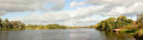 Panorama the river Royalty Free Stock Photography