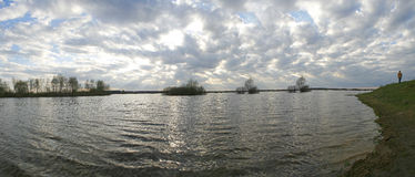 The panorama of river. Royalty Free Stock Photo
