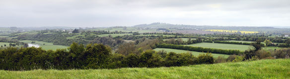 Panorama River Boyne Valley Near Knowth Stock Photo