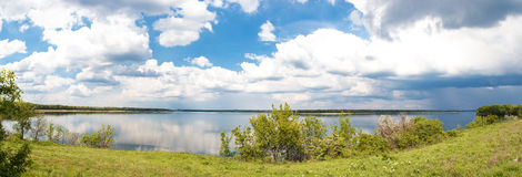 Panorama of of the river Royalty Free Stock Images
