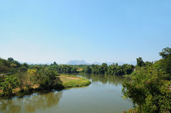 Panorama of the river Kwai in Thailand Royalty Free Stock Images