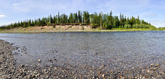 Panorama of the river landscape. Stock Image
