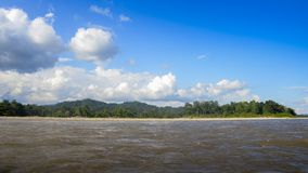 Panorama of River Napo in Ecuadorian section of the Amazonian rainforest. South America Stock Photography