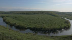 Panorama of the river stock video