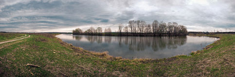 Panorama of the river of Pjana Stock Photos
