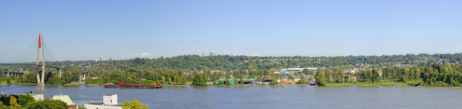 Panorama of a river and riverside Stock Photo