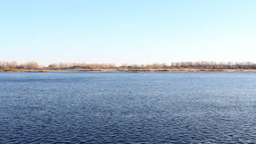 Panorama river. Panorama of the river at sunny day stock video