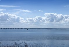 Panorama of the river Tagus - Lisbon Stock Images