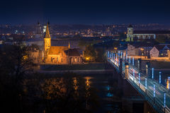 Panorama of the river and town of Kaunas. Stock Image